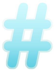 Twitter #hashtag image